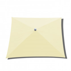 Parasol Arcachon Ecru 200 x 250 cm Alu : toile vue de dessus