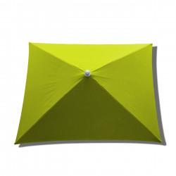 Parasol Arcachon Vert Limone 200 x 250 cm : toile vue de dessus