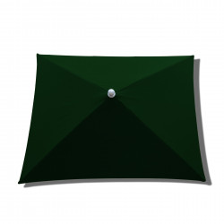 Parasol Arcachon Vert Pinède 200 x 250 cm : toile vue de dessus