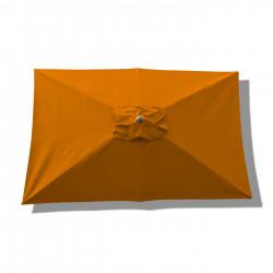 Parasol Lacanau rectangulaire : rectangle 200 x 300 cm Aluminium avec toile couleur Orange : parasol vu de dessus