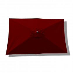 Parasol Lacanau rectangulaire : rectangle 200 x 300 cm Aluminium avec toile couleur Rouge Bordeaux : parasol vu de dessus