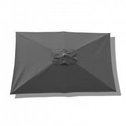 Parasol Lacanau rectangulaire : rectangle 200 x 300 cm Aluminium avec toile couleur Gris Souris :  Parasol vu de dessus