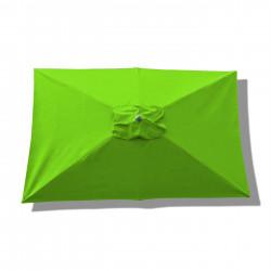 Parasol Lacanau rectangulaire : rectangle 200 x 300 cm Aluminium avec toile couleur Vert Lime : parasol vu de dessus