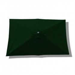 Parasol Lacanau rectangulaire : rectangle 200 x 300 cm Aluminium avec toile couleur Vert Pinède : parasol vu de dessus
