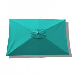 Parasol Lacanau rectangulaire : rectangle 200 x 300 cm Aluminium avec toile couleur  Bleu Turquoise : parasol vu de dessus