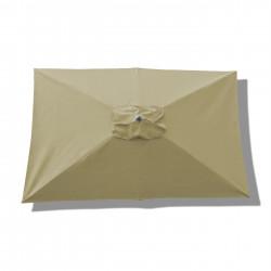 Parasol Lacanau rectangulaire : rectangle 200 x 300 cm Aluminium avec toile couleur Sable Greige : Parasol vu de dessus