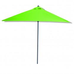 Parasol Lacanau Vert Lime 200 x 200 cm Alu : vu de coté