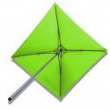 Parasol Lacanau Vert Lime 200 x 200 cm Alu : vu de dessous