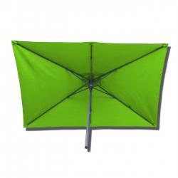 Parasol Lacanau rectangulaire : rectangle 200 x 300 cm Aluminium avec toile couleur Vert Lime : parasol vu de dessous