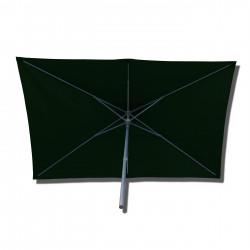Parasol Lacanau rectangulaire : rectangle 200 x 300 cm Aluminium avec toile couleur Vert Pinède : parasol vu de dessous