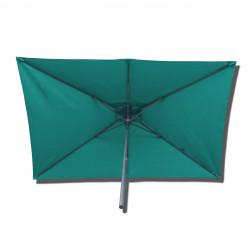 Parasol Lacanau rectangulaire : rectangle 200 x 300 cm Aluminium avec toile couleur  Bleu Turquoise : parasol vu de dessous