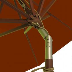 Parasol Lacanau Terracotta 300 cm Bois : détail de l'inclinaison