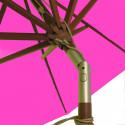 Parasol Lacanau Rose Fushia 300 cm Bois : détail de l'inclinaison