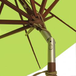 Parasol Lacanau  Vert Lime 300 cm Bois : détail de l'inclinaison
