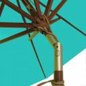 Parasol Lacanau Bleu Turquoise 300 cm Bois : détail de l'inclinaison