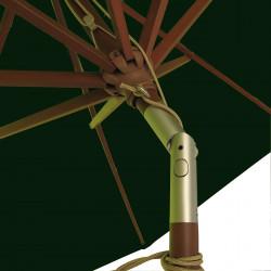 Parasol Lacanau Vert Pinède 300 cm Bois : détail de l'inclinaison