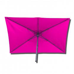 Parasol Lacanau rectangulaire : rectangle 200 x 300 cm Aluminium avec toile couleur Rose Fushia : parasol vu de dessous
