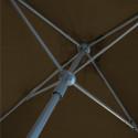 Parasol Lacanau Taupe 200 x 200 cm Alu : détail du mécanisme d'ouverture