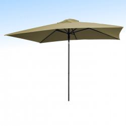 Parasol Lacanau Sable Greige 200 x 300 cm Alu :vu de face