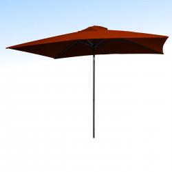 Parasol Lacanau Terracotta 200 x 300 cm Alu : vu de face
