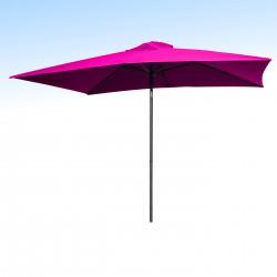 Parasol Lacanau Rose Fushia 200 x 300 cm Alu : vu de face