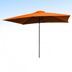 Parasol Lacanau Orange 200 x 300 cm Alu : vu de face