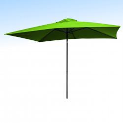 Parasol Lacanau Vert Lime 200 x 300 cm Alu  : vu de face