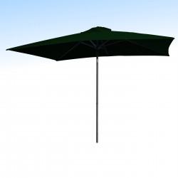 Parasol Lacanau Vert Pinède 200 x 300 cm Alu : vu de face