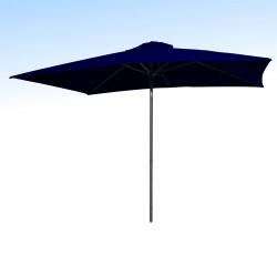 Parasol Lacanau Bleu Marine 200 x 300 cm Alu : vu de face