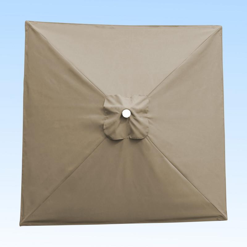 Toile acrylique Sunbrella greige 3760 lin 680 pour parasol carré 2x2