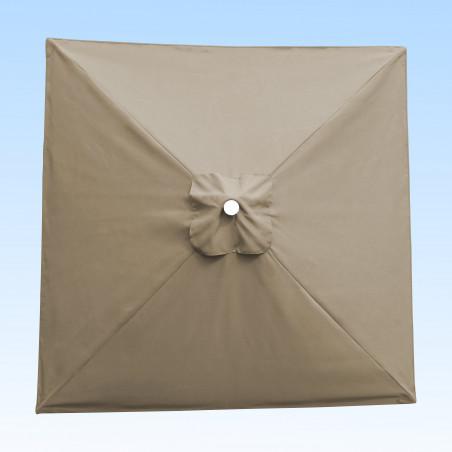 Toile acrylique Sunbrella ® Greige lin pour parasol carré 2x2