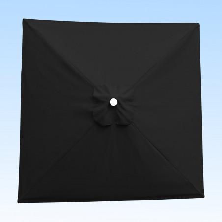 Toile acrylique Sunbrella ® Gris Carbon pour parasol carré 2x2