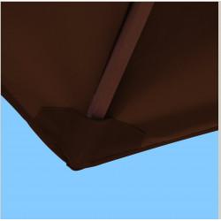Toile polyester pour parasol carré 2x2 Chocolat : coté bas de la baleine