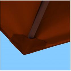 Toile polyester pour parasol carré 2x2 Terracotta : coté bas de la baleine