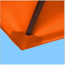 Toile polyester pour parasol carré 2x2 Orange : coté bas de la baleine