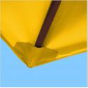 Toile polyester pour parasol carré 2x2 Jaune d'Or : coté bas de la baleine