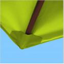 Toile polyester pour parasol carré 2x2 Vert Lime : coté bas de la baleine