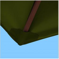 Toile polyester pour parasol carré 2x2 Vert Olive : coté bas de la baleine