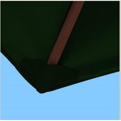 Toile polyester pour parasol carré 2x2 Vert Pinède : coté bas de la baleine