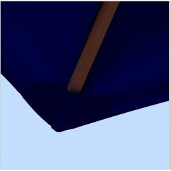 Toile polyester pour parasol carré 2x2 Bleu Marine : coté bas de la baleine