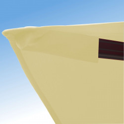 Parasol Biscarrosse Alu déporté 3x3 Ecru : détail de la toile