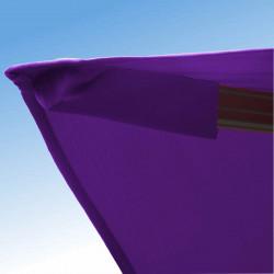 Parasol Biscarrosse Alu déporté 3x3 Violet Cassis Lilas : détail de la toile