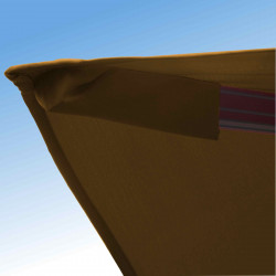 Parasol Biscarrosse Alu déporté 3x3 Taupe : détail de la toile
