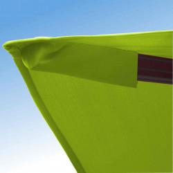 Parasol Biscarrosse Alu déporté 3x3 Vert Anis : détail de la toile