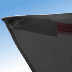 Parasol Biscarrosse Alu déporté 3x3 Gris Souris : détail de la toile