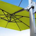 Parasol Biscarrosse Alu déporté 3x3 Vert Anis : vu de la commande a l'arrière