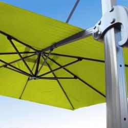 Parasol Biscarrosse Alu déporté 3x3 Vert Anis