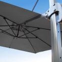 Parasol Biscarrosse Alu déporté 3x3 Gris Souris : vu de la commande a l'arrière