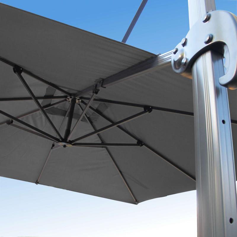 parasol biscarrosse alu d port 3x3 avec toile couleur. Black Bedroom Furniture Sets. Home Design Ideas