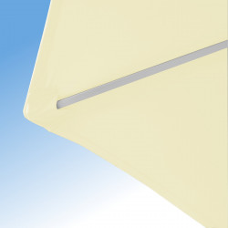 Parasol Arcachon Ecru 300 cm Alu : détail de la toile et de la qualité des coutures